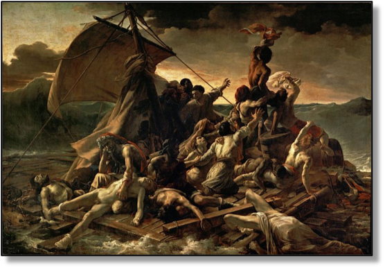 """The Raft of the Medusa"", by Eugene Gericault"