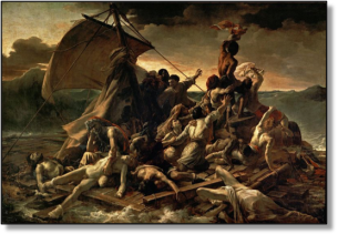 """""""The Raft of the Medusa"""", by Eugene Gericault"""