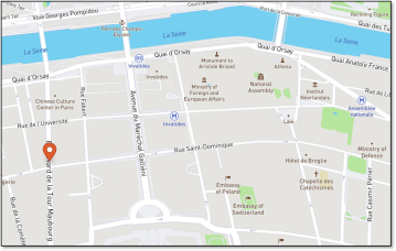 Map location Le Recrutement